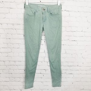 AEO|Mint Sateen Super Stretch Jeggings size 6 Long